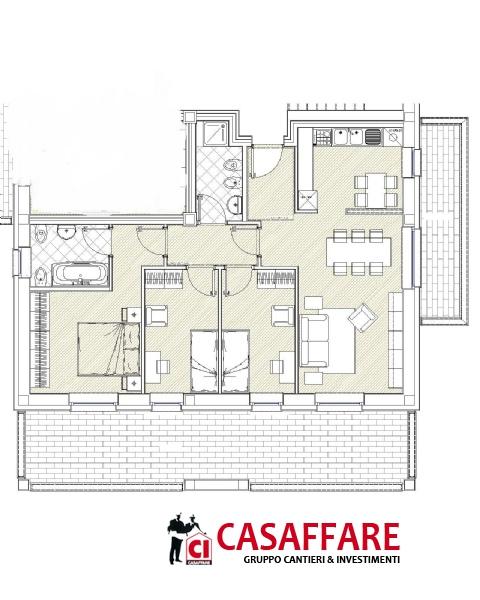 Appartamenti in vendita como muggio 39 quadrilocale di for Piani di coperta coperta